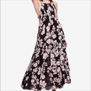 NWT Free People Garden Party Black Maxi Dress